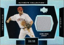 Buy Troy Glaus 2003 UD Ultimate Collection Game-Used Jersey Card #J-TR (38/99)