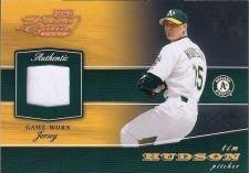 Buy Tim Hudson 2002 Playoff Piece Of The Game Game-Worn Jersey Card #POG-81 (103/250)
