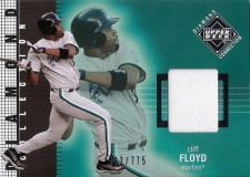 Buy Cliff Floyd 2002 UD Diamond Collection Game-Used Jersey Card #231 (603/775)