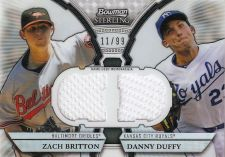 Buy Zach Britton/ Danny Duffy 2011 Bowman Sterling Dual Game-Used RC Card (11/99)