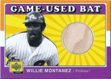 Buy Willie Montanez 2001 UD Decade 1970's Game-Used Bat Card #B-WM