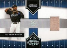 Buy Orlando Hudson 2005 Donruss Champions Impressions Game-Used Bat Card #75