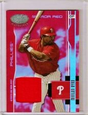 Buy Marlon Byrd 2003 Leaf Certified Materials Mirror Red Game-Used Card (191/250)