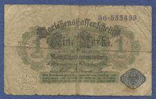 Buy Germany 1 (Eine) Mark 1914 Banknote # 36 533498 - BLUE Seal, Darlehnskassenschein