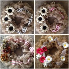Buy Decorative Door Wreaths! B4GO Free! Burlap available!