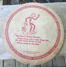 Buy Reddy kilowatt kitchen mat advertising mid century