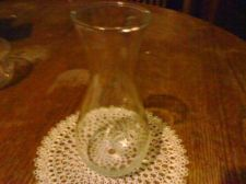 Buy VINTAGE Plain 11'' Clear Glass Vase