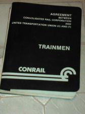 Buy Used Conrail Trainmen Agreement Consolidated Rail Corp & United Transportatio...