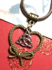 Buy CelticTriquetra Bowknot Heart European Charm