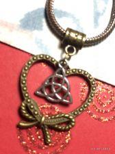 Buy CelticTriquetra Bowknot Heart European Charm