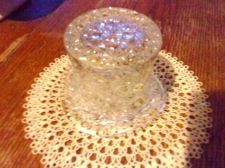 Buy Vintage Glass Daisy & Button Top Hat Clear Glass Vase