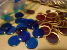 Buy 200 Vintage Purple with Gold Edge & 200 Blue REPLACEMENT BINGO CHIPS