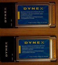 Buy 2 Dynex G Wireless 802.11g DX-WGNBC MXF-P950529G & MXF-P950602G Notebook Card