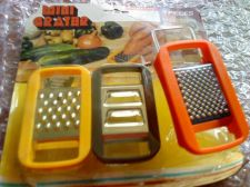 Buy 6 pc. Mini Grater Yellow ,Orange and Brown MINI GRATER SET