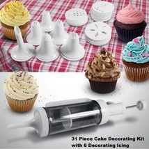 Buy 31 Piece Cake Decorating Kit with 6 Decorating Icing Nozzles New