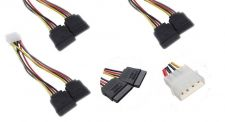 Buy 2pc 4 PIN Male IDE/Molex To 2X15 Pin Female SATA Power Cable Adapter