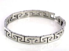 Buy Menes chain link Wristband stainless cool Silver Bangle Fashion Braclet