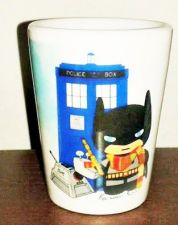 Buy Batman/doctor who shot glass