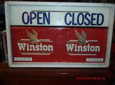 Buy VINTAGE OPEN/CLOSE WINSTON CIGARETTE SIGN