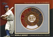 Buy 2010 Topps Commemorative Patch #MCP-9 - Lou Gehrig - Yankees