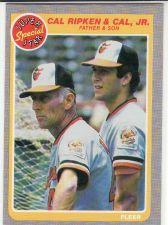 Buy 1985 Fleer #641 - Cal Ripken Sr., Cal Ripken Jr. - Orioles