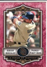 Buy 2009 UD A Piece Of History Red #76 - Adrian Gonzalez - Padres