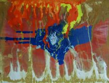 Buy Original abstract acrylic hand-made painting on stretched cloth - 30 x 24 in