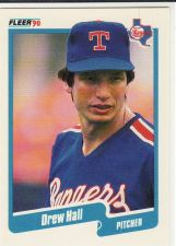 Buy 1990 Fleer #299 - Drew Hall - Rangers