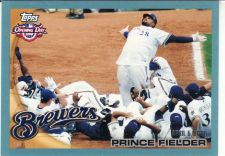 Buy 2010 Topps Opening Day Blue #1 - Prince Fielder - Brewers