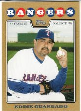 Buy 2008 Topps Updates & Highlights Gold #UH235 - Eddie Guardado - Rangers