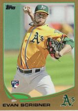 Buy 2013 Topps Gold #521 - Evan Scribner - Athletics