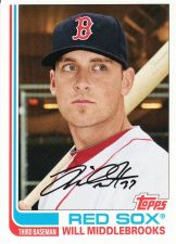 Buy 2013 Topps Archives #81 - Will Middlebrooks - Red Sox