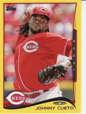 Buy 2014 Topps Yellow #16 - Johnny Cueto - Reds
