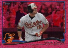 Buy 2014 Topps Red Foil #47 - Chris Davis - Orioles