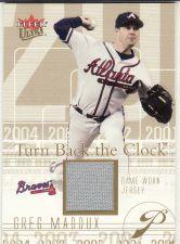 Buy 2004 Ultra Turn Back The Clock Jersey Gold #TBC-GM - Greg Maddux - Braves