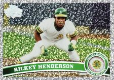 Buy 2011 Topps Update Diamond Anniversary #US59 - Rickey Henderson - Athletics