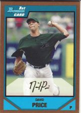 Buy 2007 Bowman Draft Draft Picks Gold #BDPP55 - David Price - Rays