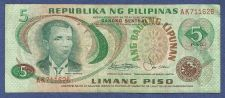 Buy Philippines 5 Limang Piso 1949 Banknote #AK711626