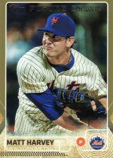 Buy 2015 Topps Gold #480 - Matt Harvey - Mets