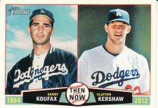 Buy 2013 Topps Heritage Then & Now #TN-KK - Sandy Koufax - Clayton Kershaw - Dodgers