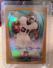 Buy Darquese Dennard- 2014 Bowman Rookie Chrome Refractor Autograph Gold Border #82 - RC