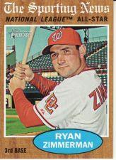 Buy 2011 Topps Heritage #392 - Ryan Zimmerman - Nationals