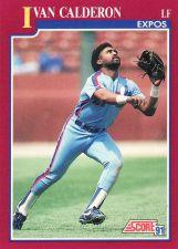 Buy 1991 Score Rookie & Traded #6T - Ivan Calderon - Expos