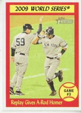 Buy 2010 Topps Heritage #308 Replay Gives A-rod Homer