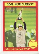 Buy 2010 Topps Heritage #312 Matsui Named MVP