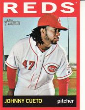 Buy 2013 Topps Heritage Target Red Border #330 - Johnny Cueto - Reds