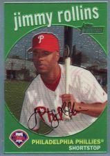 Buy 2008 Topps Heritage Chrome Refractors #C25 - Jimmy Rollins - Phillies