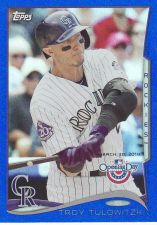 Buy 2014 Topps Opening Day Blue #108 - Troy Tulowitzki - Rockies