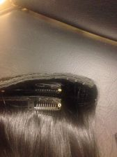 Buy Handmade - 4 pcs Clip in Set - Color 2 Human Hair Straight Clip In Set 100 grams