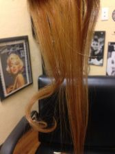 Buy 10 inch 5 pcs set color 27/30 highlight human blend human hair clip in set